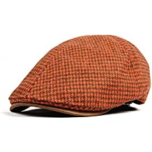 0f781962ea9c7 WITHMOONS Sombreros gorras Boinas Bombines Winter Tweed Houndstooth Newsboy  Hat Faux Leather Brim Flat Cap SL3019