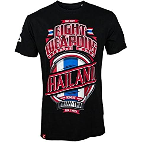 8 Weapons Muay Thai – Camiseta, Mighty Tailandia, todo el año, color , tamaño large