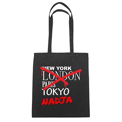 JOllify Nadja di cotone felpato b5798 schwarz: New York, London, Paris, Tokyo schwarz: Graffiti Streetart New York