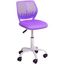 Aingoo de tareas de Office Silla de escritorio ajustable media de la espalda para sillas de estudio en el hogar infantil, p¨²rpura