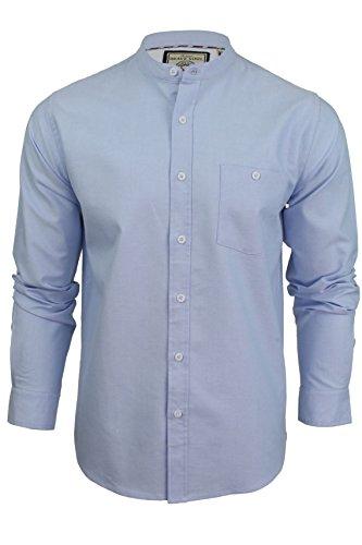 Herren Shirt 'Augustus' mit Grandad-Kragen von Brave Soul, langärmelig (Hellblau) L