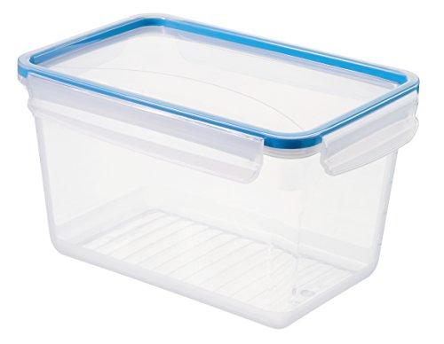"""Rotho Frischhaltedose """"Clic & Lock"""", Aromafeste Aufbewahrungsbox mit Deckel, Inhalt 3 l, transparente Kunststoffbox (23.9x16x13.6 cm) mit Clip-Verschluss, BPA-freie Vorratsdose spülmaschinengeeignet"""