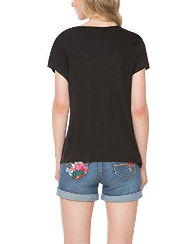 Desigual Eudora - T-shirt - Femme Noir - Noir (2000)