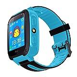 Smart Watch pour Les Enfants,avec Carte SIM Smart Clock GPS Tracker,Kids Sécurité Smart Watch Téléphone Cadeau pour Les Filles Enfants Garçon ,Cadeau d'école,Rose Bleu Vert