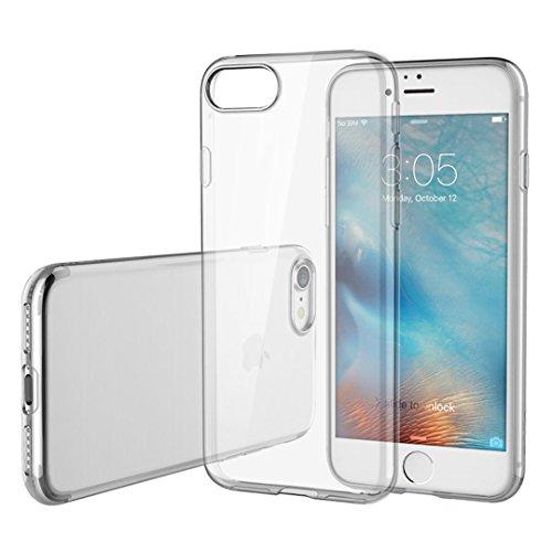 LONVIPI® iPhone 7 Plus Funda Ultra Slim Tpu 0 3 Gel Transparente Case Clara Resistente Cristal Choque Absorcion Cubierta de parachoques y Proteccion gota Prima Clear Trasero LONVIPI®