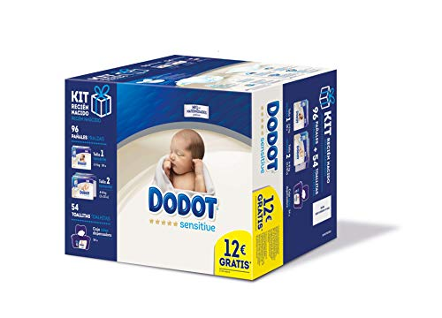 Kit de pañales desechables Dodot Protection Plus Sensitive para recién nacido