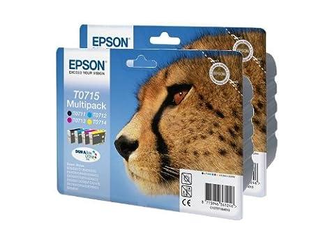 Epson T0715 x2 2 x Tintenpatronen Original Multipacks 8, gemischt