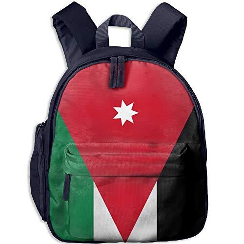 Flag of Jordan Kid and Toddler Student Backpack School Bag Super Bookbag