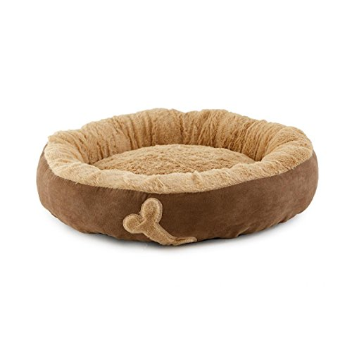 Cuccia per cani e gatti morbido lettino ovale antiscivolo p744 biscotto