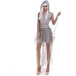 Halloween/traje/para las mujeres/falda sexy/ disfraz de vampiro /fiesta/terror]/novia fantasma-Gris M