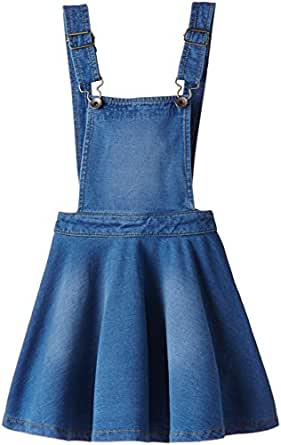 United Colors of Benetton Girls' Overalls, Dungarees and Rompers (15P3MP1580C0G901EL_Blue_11 - 12 years)