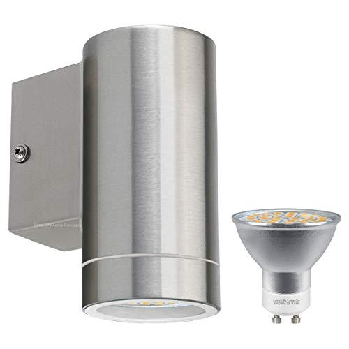 Long Life Lamp Company Applique Murale extérieure en Acier Inoxydable IP65 5 W 400 lumens LED économie d'énergie