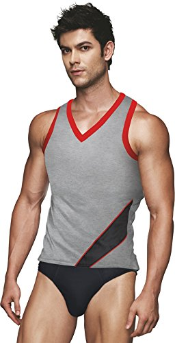 EURO Men's Cotton Vest (Pack Of 1) (GV10-GREY_D.GREY) (Size:Medium)  available at amazon for Rs.279