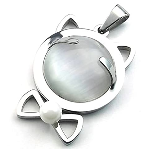 Aooaz Gravure Libre Colliers Pendentif Engraver Gratuit Pour Hommes Femmes Polissage Silver Hollow Cat Lien 26 Pouces