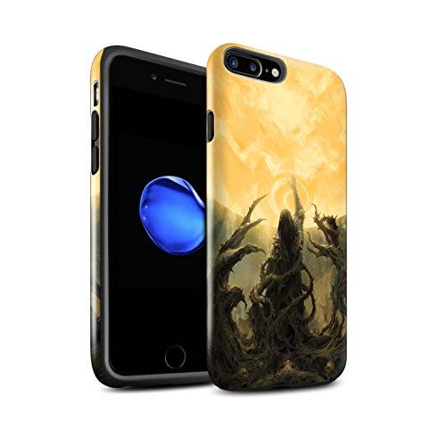 Offiziell Chris Cold Hülle / Glanz Harten Stoßfest Case für Apple iPhone 7 Plus / Sonnengott/Reben Muster / Unterwelt Kollektion Sonnengott/Reben