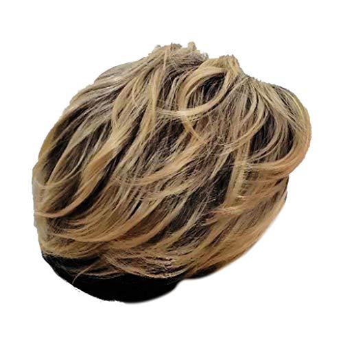 Nourich 2019 Perücke, natürliches Haar, gelbes Haar, 27,9 cm, dehnbar, weich, einfach zu tragen, für Frauen und Mädchen, hitzebeständig, natürliche ()