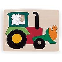 Hape - Puzzle encajable infantil arcoíris Tractor (Barrutoys E6507)