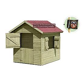 Kinderspielhaus Marie 1,5 x 1,2 x 1,60 aus Holz von Gartenpirat®