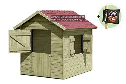 Kinderspielhaus Marie 1,5 x 1,2 m x 1,60 aus Holz von Gartenpirat®
