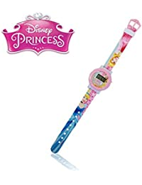 Reloj de pulsera digital con correa de goma infantil para niño y niña con motivo de PRINCESAS DISNEY - Disney WD10563 – mws1994