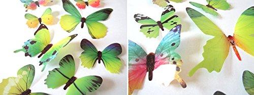Zegeey Eingestellt DIY Schmetterlings Wandaufkleber Wandtattoo Wanddeko Dekor FüR Fenster Flur KüChe Kinderzimmer Wohnzimmer Babyzimmer Autos Fahrzeuge (A-Grün)