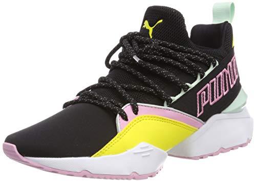 Puma Muse Maia TZ Wn's, Zapatillas para Mujer, Negro Black-Blazing Yellow, 37 EU