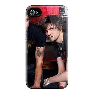 KennethKaczmarek Iphone 4/4s Durable Hard Cell-phone Cases Custom Nice Boys Like Girls Band Pattern [Rfx6428wuTH]