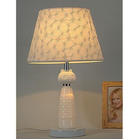 Cerámica de estilo contemporáneo con telas metálicas sombra Lámpara de mesa para el dormitorio / sala de estudio decorar Dest Luz , 110-120