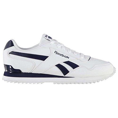 Reebok Herren Glide Rip Clip Turnschuhe Sportschuhe Sneaker Freizeit Schuhe White/Navy 9 (43) Weiß Navy Sneaker Schuhe