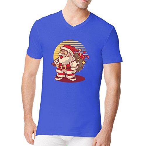 Fun Sprüche Männer V-Neck Shirt - Ho Ho Ho - Santa Claus by Im-Shirt Royal