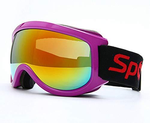 Coniea Sicherheitsbrille Sehstärke TPU+PC Nachtsichtbrille Damen Schutz Brille Rose Rot