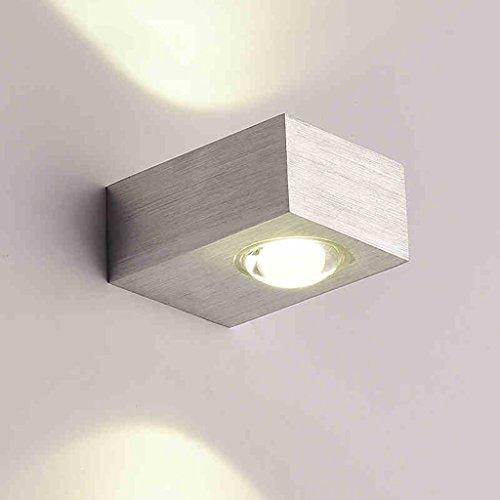 Einfache Moderne Led Bed Head Wand Lampe Schlafzimmer Wohnzimmer Creative Treppen Korridor Gang Balkon Tür Lichter (Farbe : - Edge Bed Head