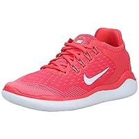 Nike Free Rn 2018 Women's Road Running Shoes , Multicolour (Ember Glow/White/Pink Gaze 801) , 6.5 UK (37.5 EU) (NK942837_801)
