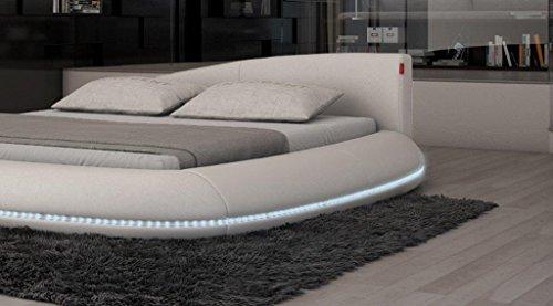 Rundbett-Wasserbett MODENA 180 x 200 cm mit Farb-LED