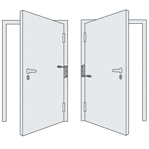 Gah-Alberts 204808 Muelle para puertas para atornillar, longitud total: 290 mm, galvanizado en amarillo