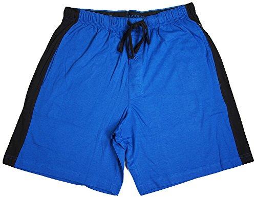 Hanes Mens Jersey Knit Pajama Sleep Short with Side Panel -