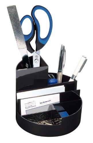 Wedo 75501 - Organizador de material de escritorio  6 compartimentos, negro