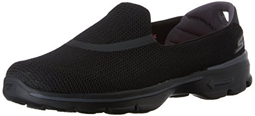 Skechers Women's GOwalk 3 Low Top Sneakers - Black (BBK), 6 UK