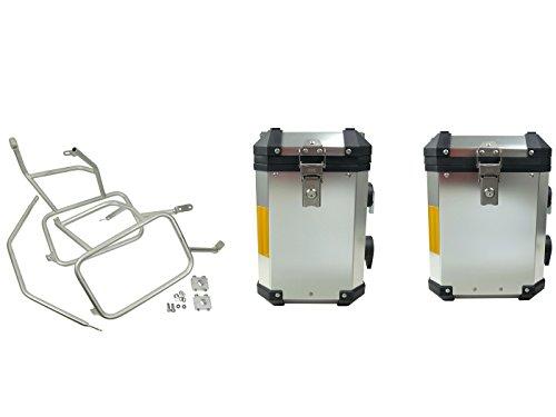 Preisvergleich Produktbild Koffer Satz Alu BMW R1200 GS LC Adventure ab Bj.2013 Edelstahlträger 45+38Liter