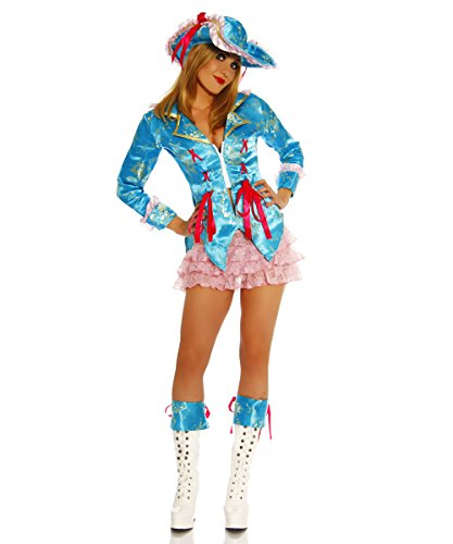 Piraten-Kostüm Weste, Mini-Rock, Hut, 1 Paar Stulpen Gr. - Piraten Kostüm Mini Hut
