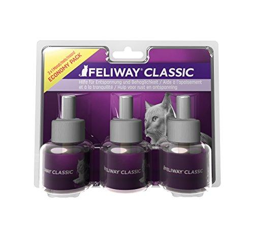 FELIWAY Classic Vorteilspack (3x30 Tage Nachfüllflakons) inkl. Katzen-Wohlfühlguide von Tierglück24