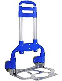 Carrelli Per La Spesa Carrello Pieghevole Per Trolley Portatile In Alluminio Con Trolley,Blue-35*27*100cm