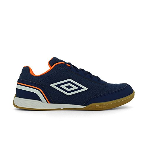 Umbro Futsal Street V, Scarpe da Calcetto Indoor Uomo, Blu (Navy Peony/White/Shocking Orange FCJ), 42 EU