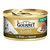 24 x Gourmet Dose Gold Feine Pastete Ente&Spinat 85g