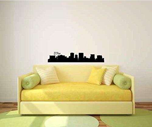 wandaufkleber schlafzimmer schwarz El Paso für Wohnzimmer oder Schlafzimmer