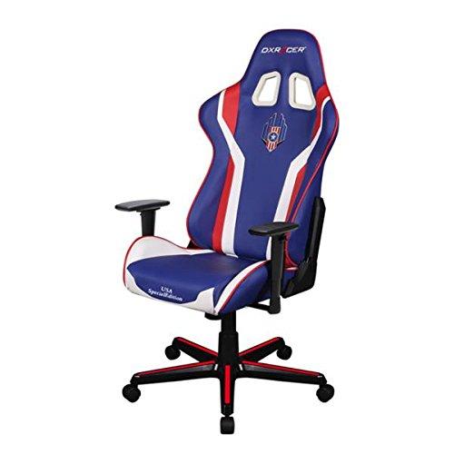 DXRacer Chaise Gaming série K USA Noir/Blanc/Rouge