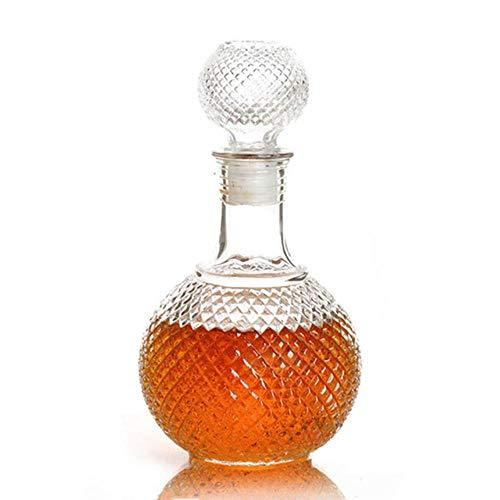 FeiKe 1 STÜCK Neueste 250 ml 500 ml 1000 ml Kristall Whisky Wine S Glasflasche Mit Kappe Sper Drinking Bar Dekanter JR 1082,250 ml