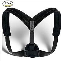 Paar 2 Stücke, Oberer Rücken Körperhaltung Korrektor Für Frauen Und Männer Schlüsselbein Wirbelsäule Hosenträger Unterstützung Gürtel Korrektur Erleichterung Druck-Schultergurt Gesundheitswesen