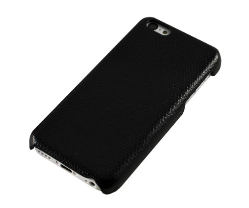 Xcessor Carbon Fibre Effekt Hard Kunststoff Case für Apple iPhone 5 C – Schwarz Snake / Black