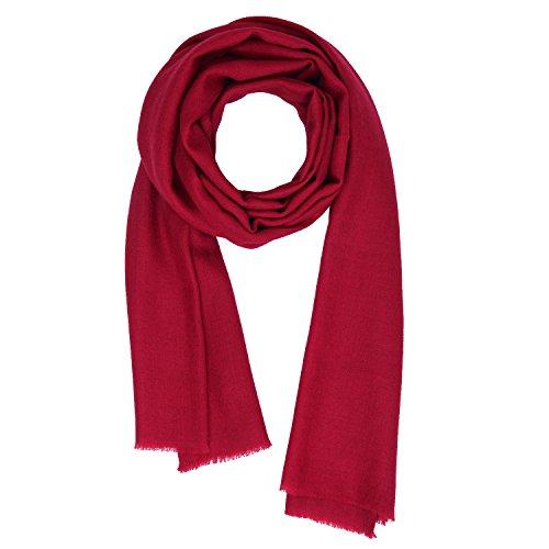 KASHFAB Kashmir Frauen Herren Winter Mode Solide Schal, Wolle Seide stole, Weich Lange Schal, Warm Paschmina Kastanienbraun (Herren Gemalt Streifen)